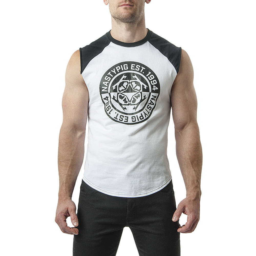 Divergent Sleeveless Tee White  Hot Candy-6766